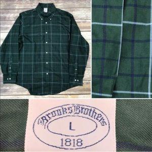 Brooks Brothers 1818 Regent Plaid Cotton Polo